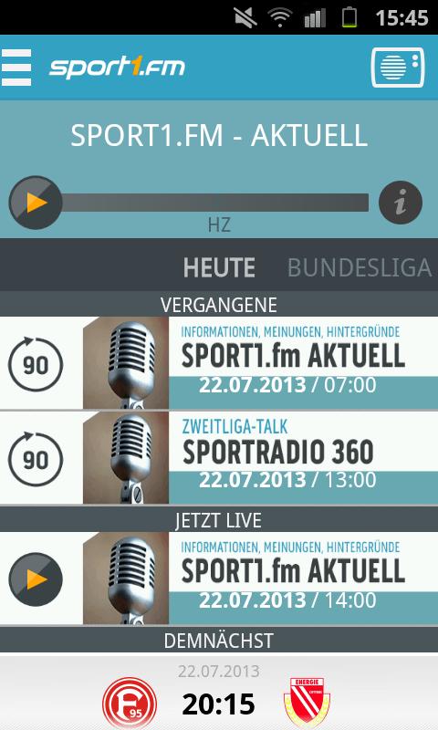 Sport1 App Probleme