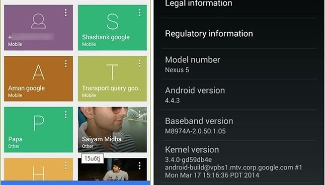 KitKat 4.4.3: Imagem vazada mostra nova interface do discador
