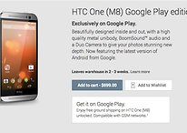 HTC One M8 Google Play Edition já pode ser adquirido na Play Store