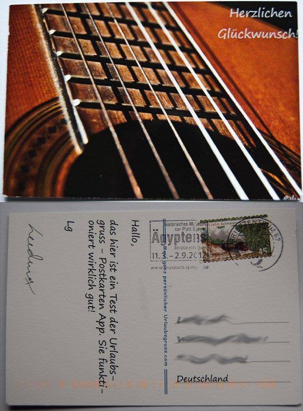 Bild der Postkarte