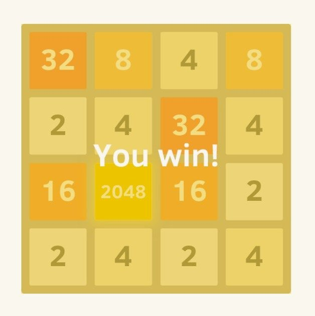 AndroidPIT 2048 win