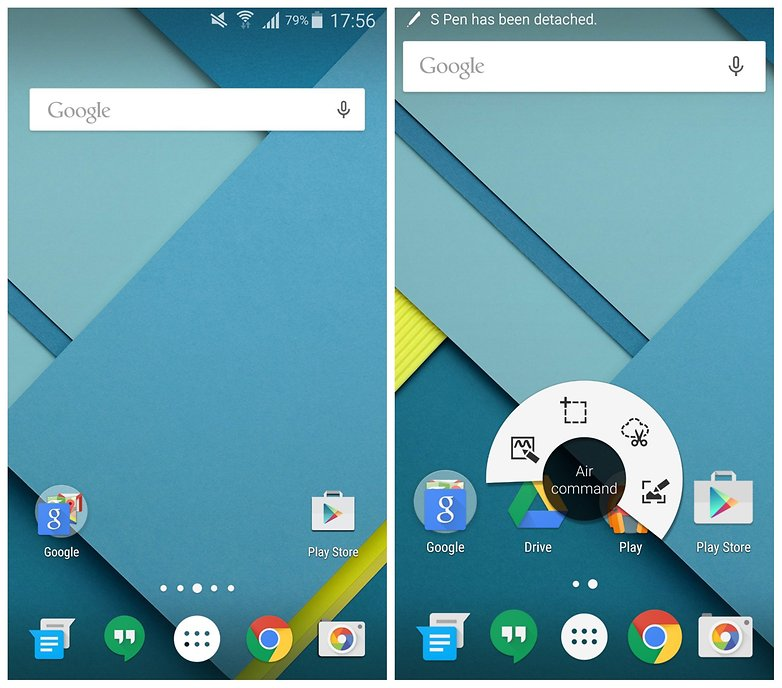 AndroidPIT Apex Launcher Google Now Launcher Galaxy Note 4 stock Android