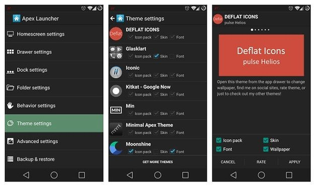 AndroidPIT Apex Launcher Themes Icons