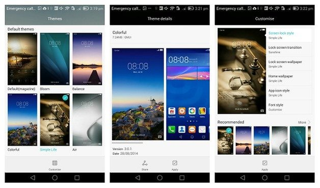 AndroidPIT Ascend Mate 7 themes