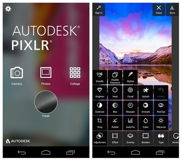 AndroidPIT Autodesk Pixlr picture editor