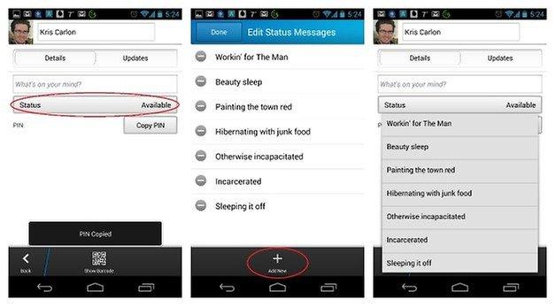 AndroidPIT BBM Status