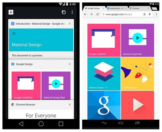 AndroidPIT Chrome Material Design