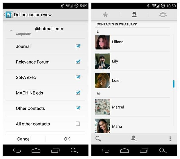 AndroidPIT Contacts Custom Profiles
