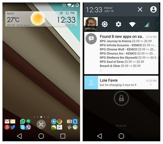 AndroidPIT CynoagernMod Android L Theme Homescreen Notifications