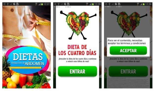 AndroidPIT Dietas Abdomen Screens