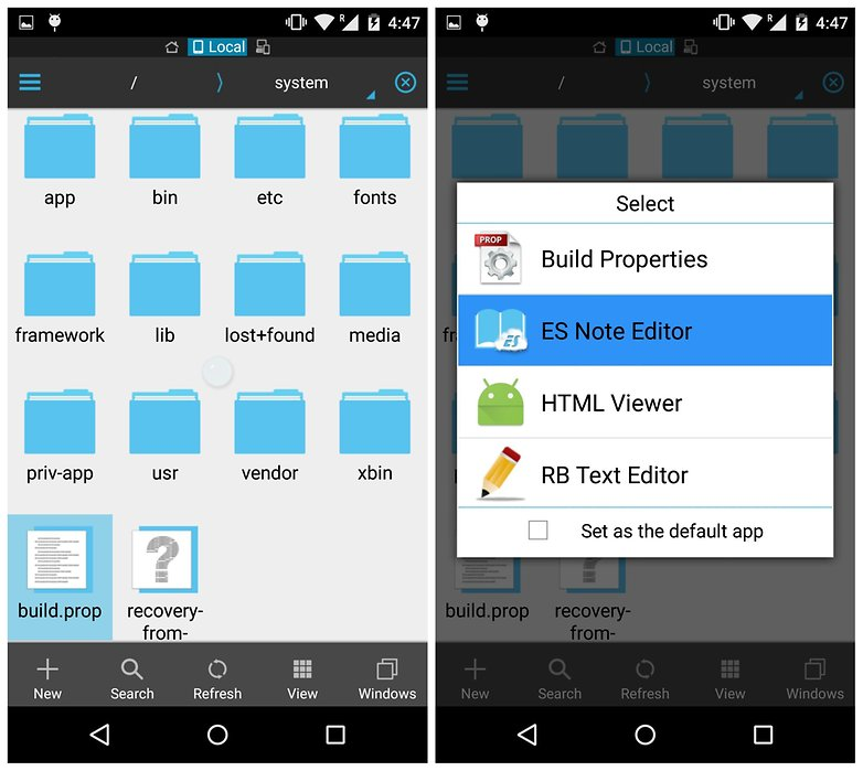 AndroidPIT ES File Explorer device system buildprop edit