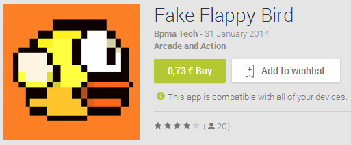 AndroidPIT Fake Flappy Bird