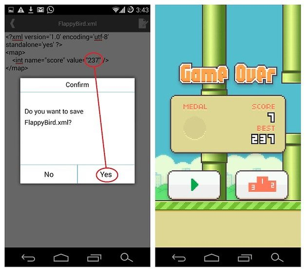 AndroidPIT Flappy Bird Score Cheat 4