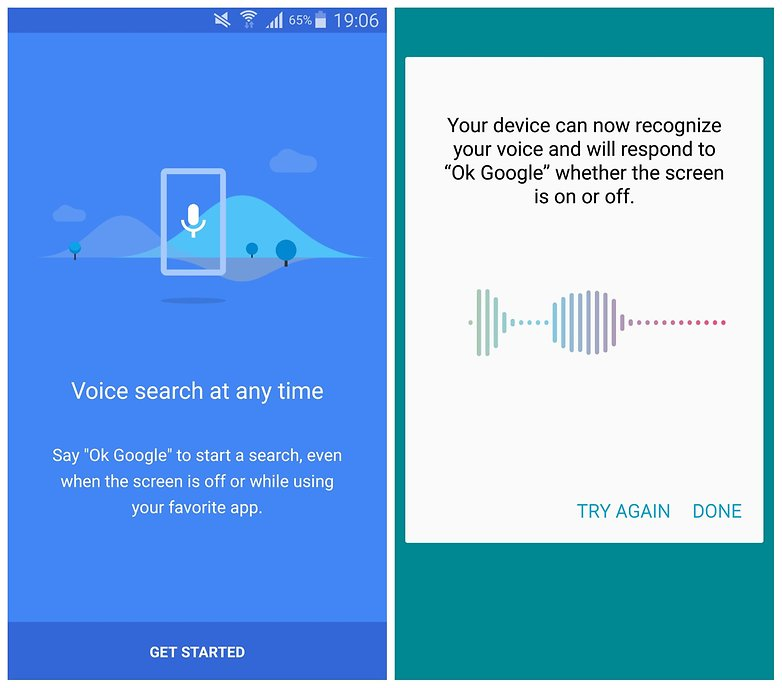 AndroidPIT Galaxy Note 4 Google Now voice recognition
