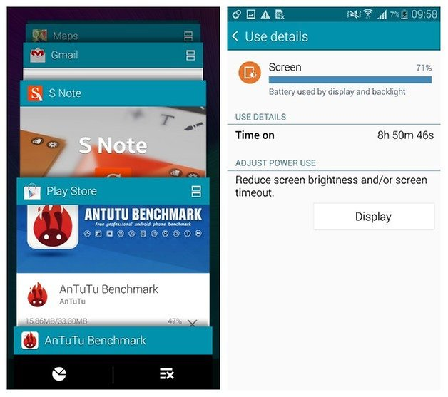 AndroidPIT Galaxy Note 4 recents battery