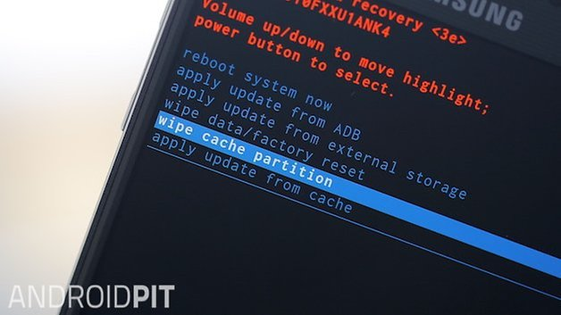 AndroidPIT Galaxy Note 4 recovery mode clear cache partition