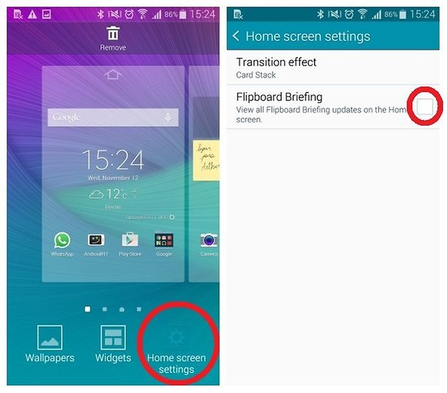 How to remove Flipboard from Galaxy Note 4 - AndroidPIT