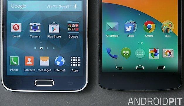 AndroidPIT Galaxy S Nexus 5 bezels