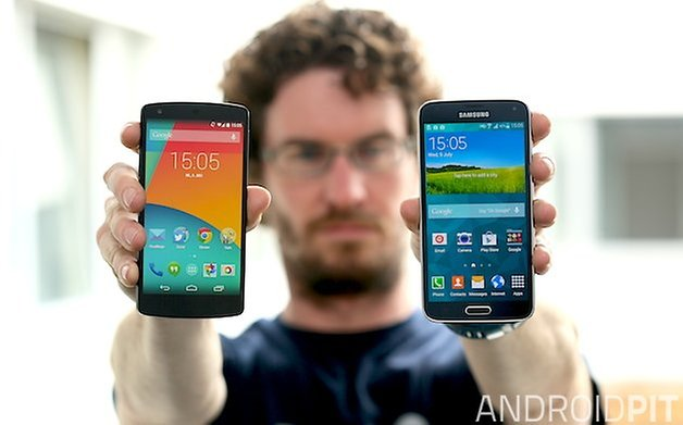 AndroidPIT Galaxy S Nexus 5 teaser