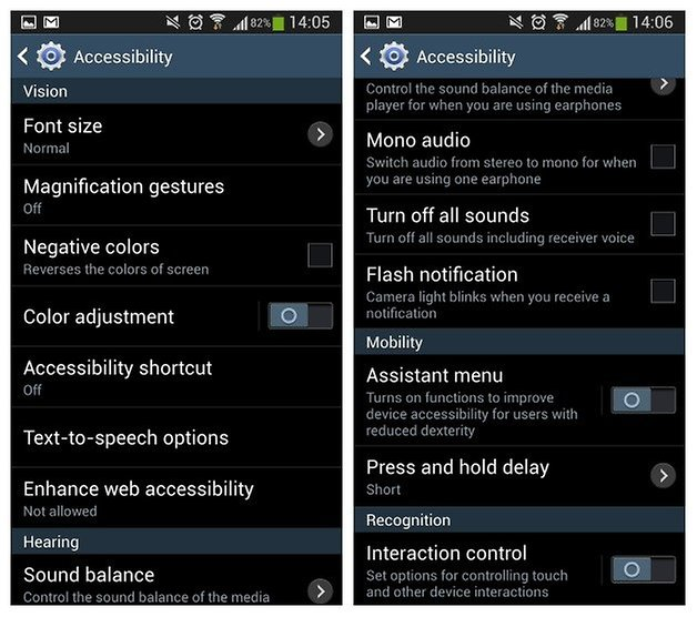 AndroidPIT Galaxy S4 Accessibility 2
