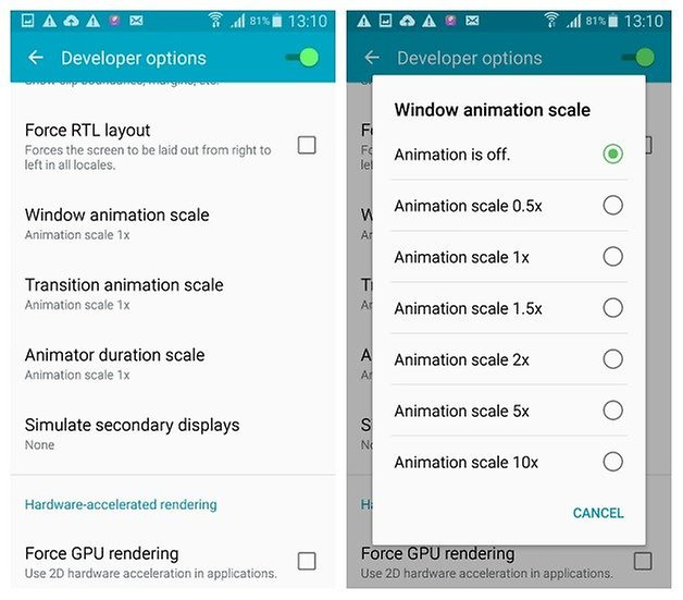 AndroidPIT Galaxy S4 Android 5 0 1 Lollipop Developer Options window animation scale