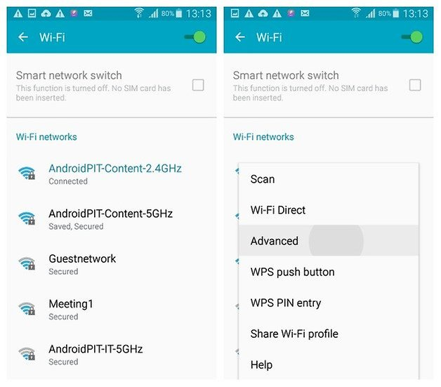 AndroidPIT Galaxy S4 Android 5 0 1 Lollipop Wi Fi settings advanced