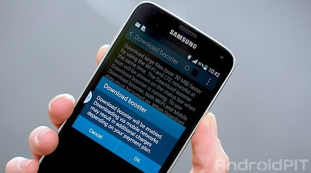 AndroidPIT Galaxy S5 Download Booster
