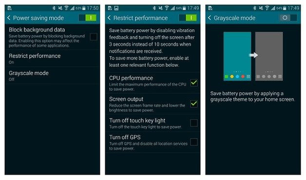 AndroidPIT Galaxy S5 Power Saving Mode