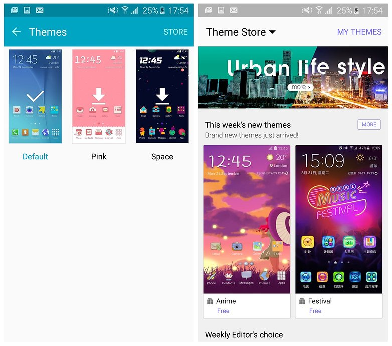 AndroidPIT Galaxy S6 Edge TouchWiz theme store