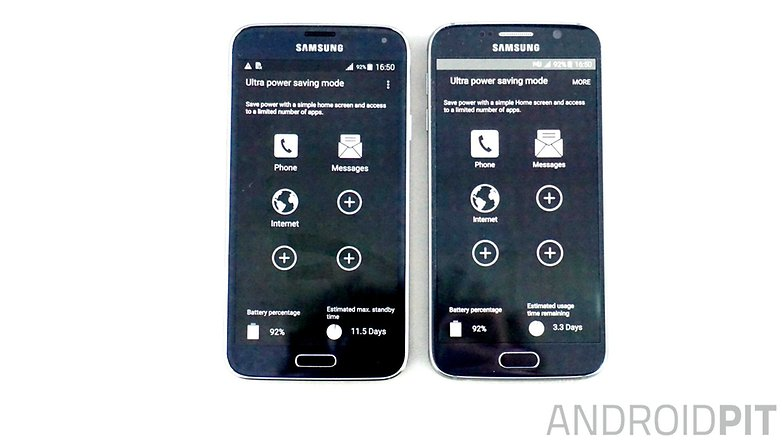 AndroidPIT Galaxy S6 Galaxy S5 ultra power saving mode
