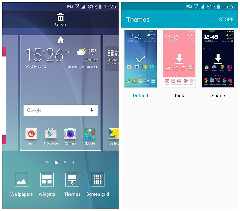 AndroidPIT Galaxy S6 themes