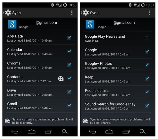 AndroidPIT Google Account Sync