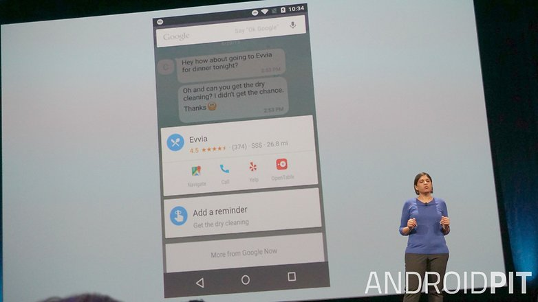 AndroidPIT Google I O 2015 Google Now Now on Tap