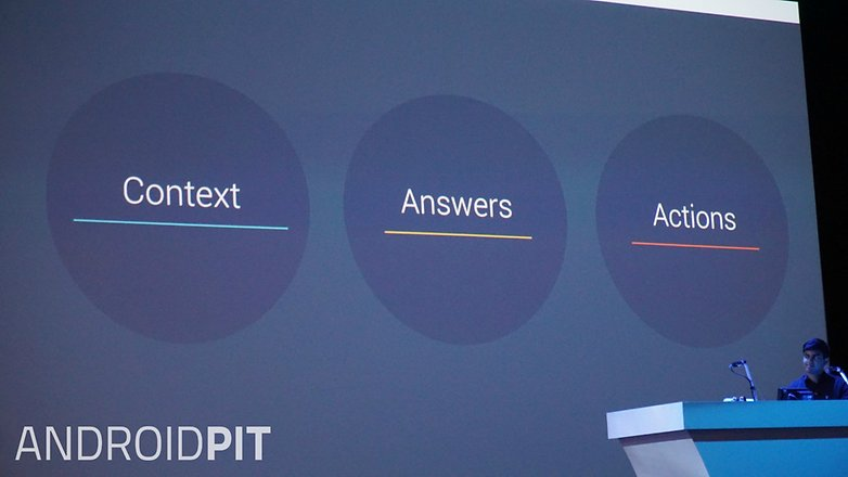 AndroidPIT Google I O 2015 Google Now context answers actions