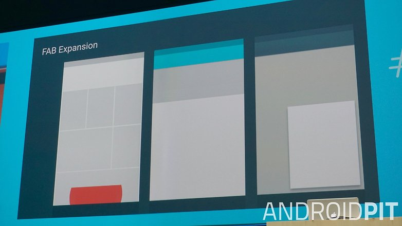 AndroidPIT Google I O 2015 Material Design layouts Floating action button
