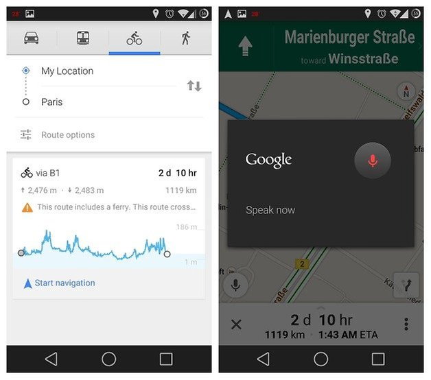 AndroidPIT Google Maps Elevation Voice Command