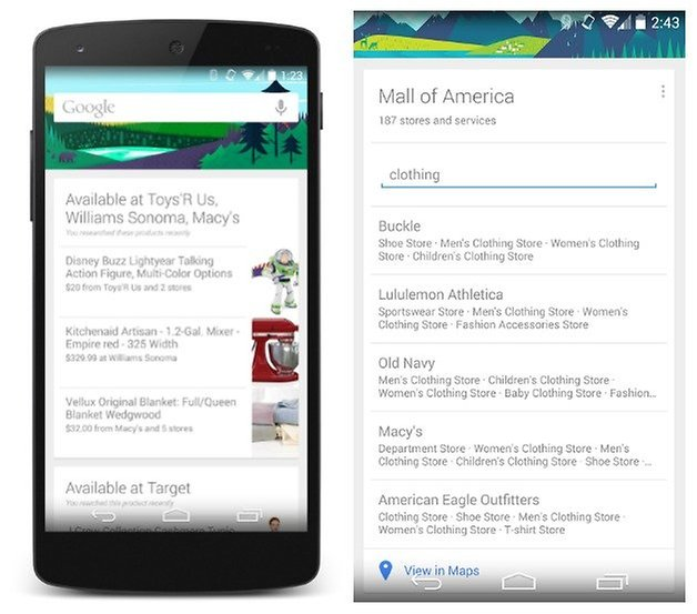 AndroidPIT Google Now Shopping
