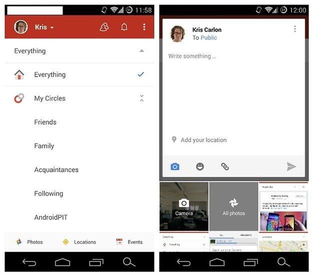 AndroidPIT GooglePlus v44 interface