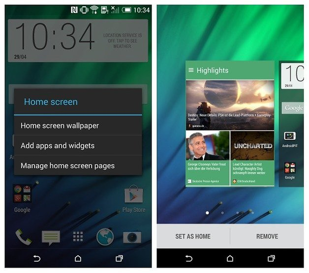 AndroidPIT HTC One M8 Blinkfeed Manage