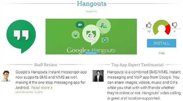 AndroidPIT Hangouts App Profile Page