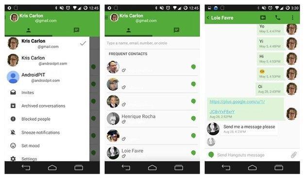 AndroidPIT Hangouts Material Design