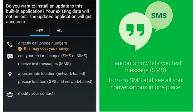 Get Hangouts 2 0 with combined SMS and other KitKat APKs