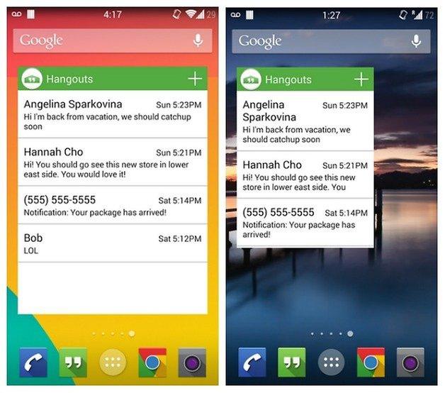 AndroidPIT Hangouts Widget