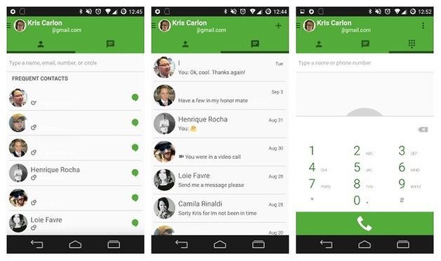 AndroidPIT Hangouts interface 1