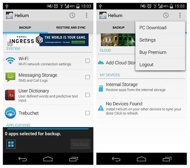 AndroidPIT Helium Screenshot