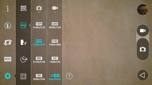 Câmera do LG G Flex 2