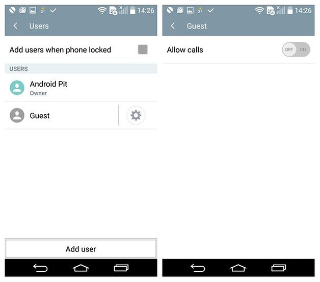 AndroidPIT LG G3 Android 5 0 Lollipop Guest Mode calls