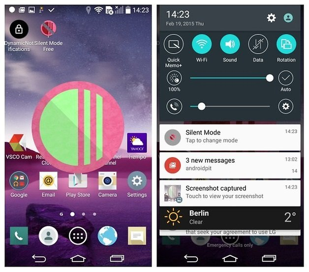 AndroidPIT LG G3 Android 5 0 Lollipop silent mode