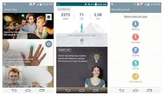 AndroidPIT LG G3 Health Smart Bulletin