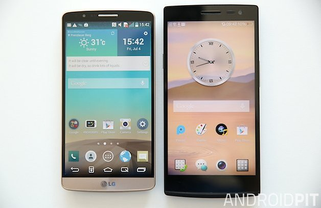 AndroidPIT LG G3 Oppo Find 7 front